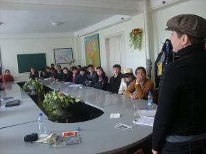Mieze Medusa @ Weltspracheuniversität Samarkand