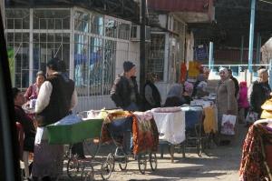 Brotstraßenverkauf in Usbekistan